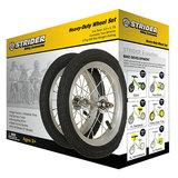 Set aluminium wielen met spaken en luchtbanden_