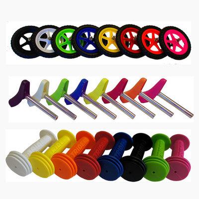 Voordeelpakket gekleurde wielen / zadel / handvaten