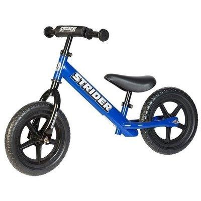 **Sport** Blauwe Strider loopfiets. Loopfiets voor kinderen 1,5 tot 5 jaar.