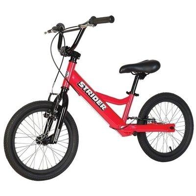 Loopfiets Super Strider 16 Sport Rood voor kinderen van 6 tot 12 jaar versie 2