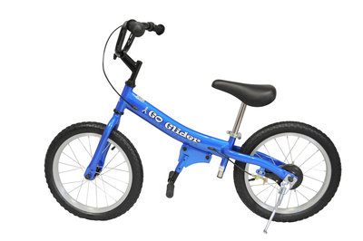 Glide Bike 16 inch loopfiets 5 tot 10 jaar BLAUW