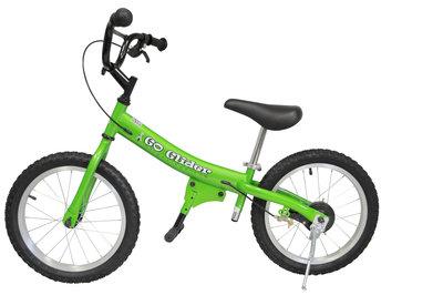 Glide Bike 16 inch loopfiets 5 tot 10 jaar GROEN