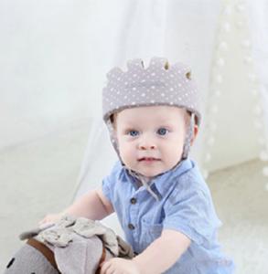 Baby valhelm zacht Grijs stippen vanaf 8 maanden