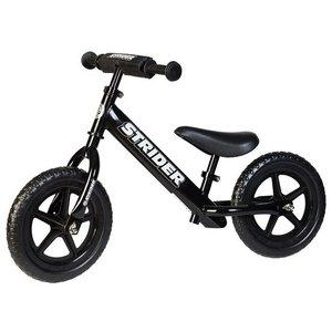 **Sport** Zwarte Strider loopfiets voor 1,5 tot 5 jaar. Met GRATIS XL Zadelpen en stuurbeschermer
